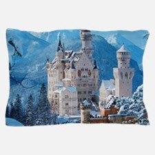 Castle In The Winter Pillow Case