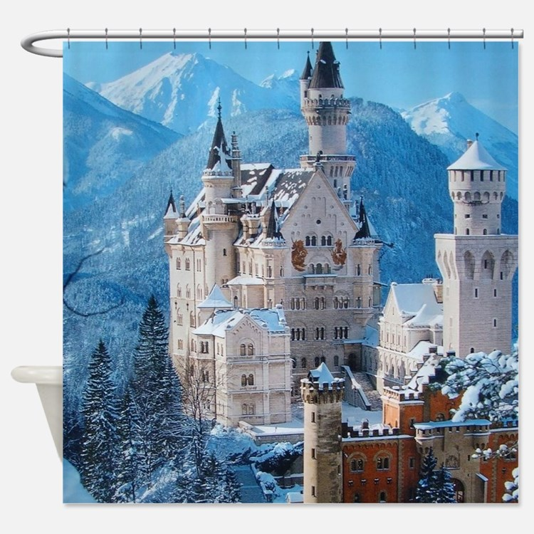 Castle In The Winter Shower Curtain
