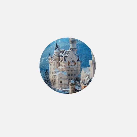 Castle In The Winter Mini Button