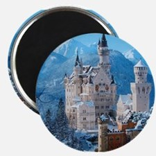 Castle In The Winter Magnets