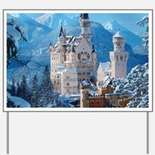 Castle In The Winter Yard Sign