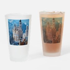 Castle In The Winter Drinking Glass