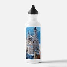 Castle In The Winter Sports Water Bottle