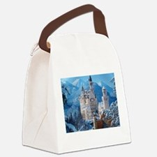 Castle In The Winter Canvas Lunch Bag