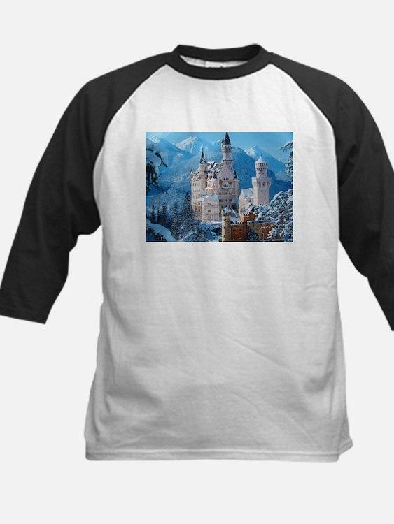 Castle In The Winter Baseball Jersey