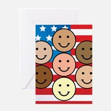 American People Greeting Card