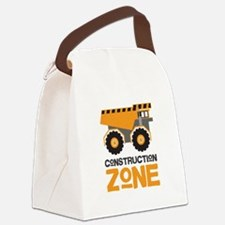 Construction Zone Canvas Lunch Bag