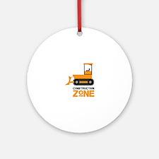 Construction Zone Round Ornament