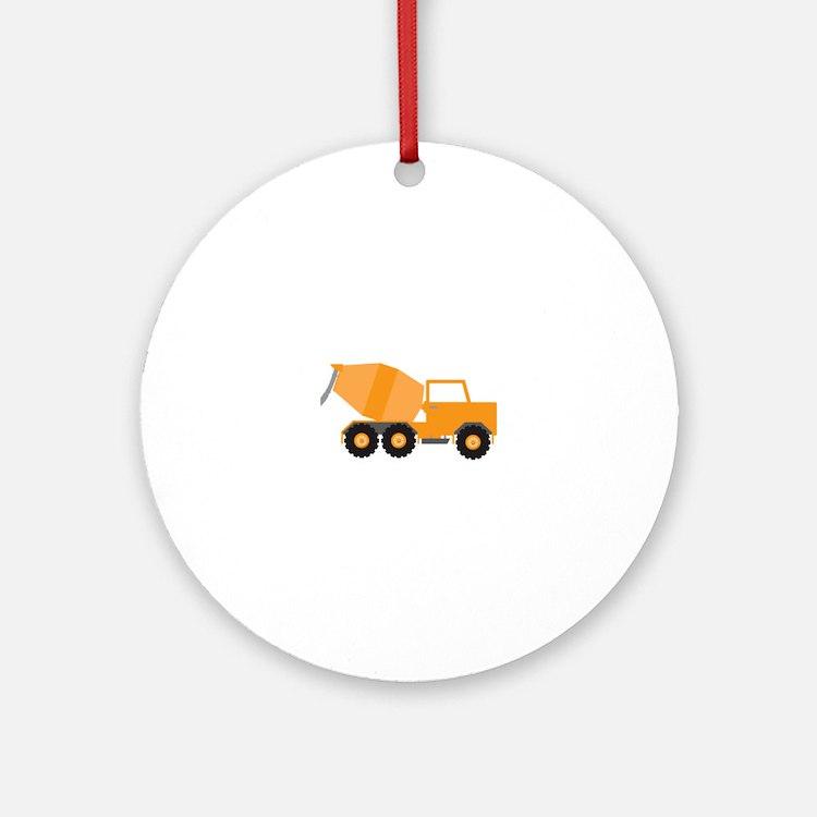 Cement Truck Round Ornament