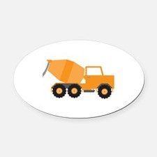 Cement Truck Oval Car Magnet