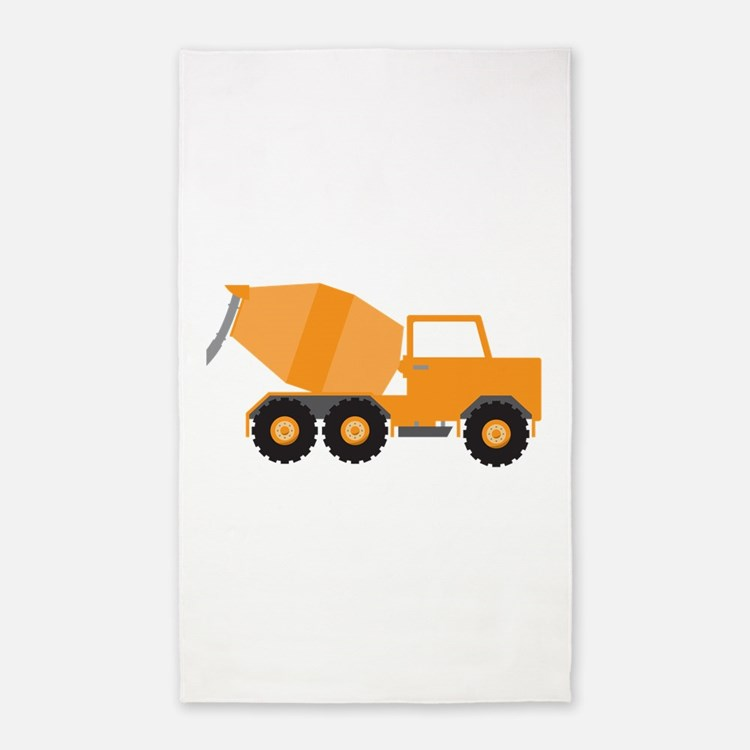 Cement Truck Area Rug