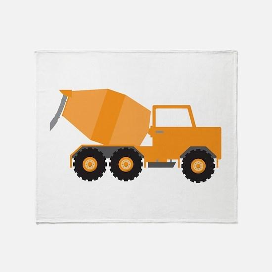 Cement Truck Throw Blanket