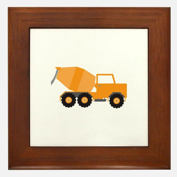 Cement Truck Framed Tile