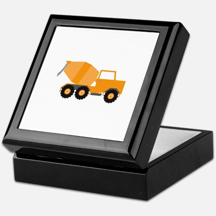 Cement Truck Keepsake Box