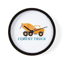 Cement Truck Wall Clock