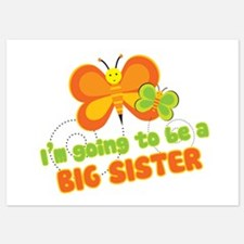 Big Sister Butterflies Invitations