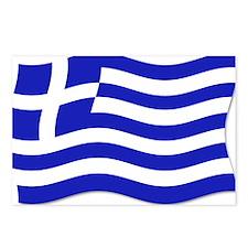 Waving Greek Flag Postcards (Package of 8)