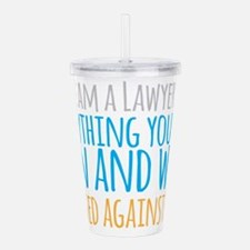 I am a LAWYER anything Acrylic Double-wall Tumbler