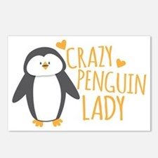 Crazy Penguin Lady Postcards (Package of 8)