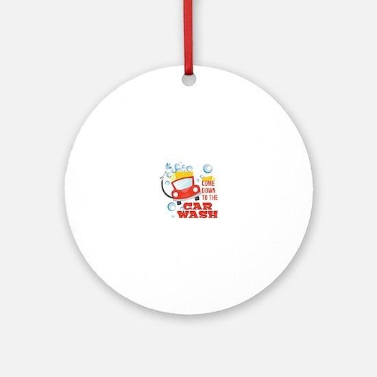 The Car Wash Round Ornament