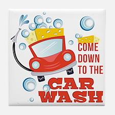 The Car Wash Tile Coaster