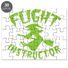 Flight instructor wickedy witch on a brooms Puzzle