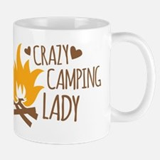 Crazy Camping Lady Mugs