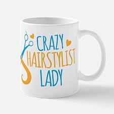 Crazy Hairstylist lady Mugs