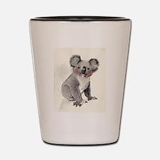 baby koala Shot Glass