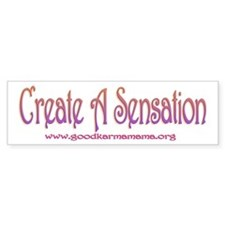 Create s Sensation Bumper Bumper Sticker