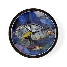 Fish mosaic 001 Wall Clock