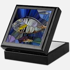 Fish mosaic 001 Keepsake Box