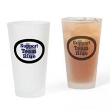 Support Team Blue Drinking Glass