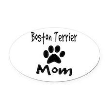 Boston Terrier Mom Oval Car Magnet