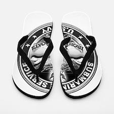 USN Submarine Service Bordered Flip Flops