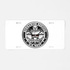 USN Submarine Service Bordered Aluminum License Pl
