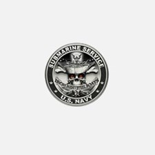 USN Submarine Service Bordered Mini Button