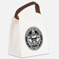USN Submarine Service Bordered Canvas Lunch Bag