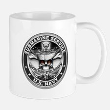 USN Submarine Service Bordered Mugs