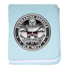 USN Submarine Service Bordered baby blanket