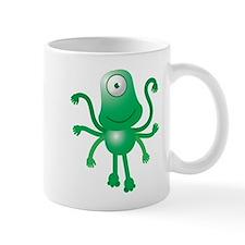 Cute green 6 armed Alien with one eye Mugs