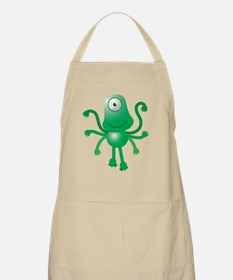 Cute green 6 armed Alien with one eye Apron
