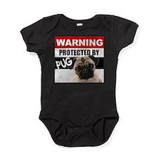 Cute Pug Baby Bodysuit