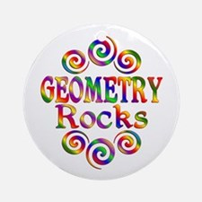 Colorful Geometry Rocks Round Ornament