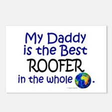 Best Roofer In The World (Daddy) Postcards (Packag