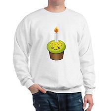 Cutie Kawaii Happy Birthday Cupcake Sweatshirt