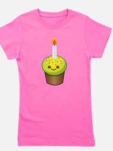 Cutie Kawaii Happy Birthday Cupcake Girl's Tee