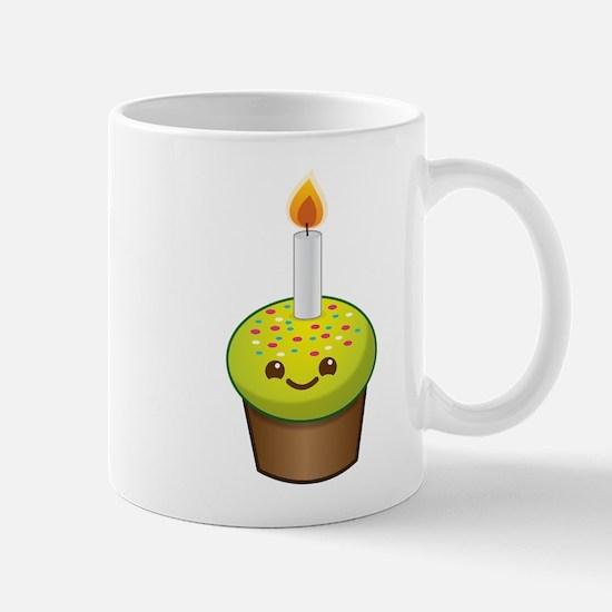Cutie Kawaii Happy Birthday Cupcake Mugs