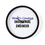 Worlds Greatest INDUSTRIAL ENGINEER Wall Clock