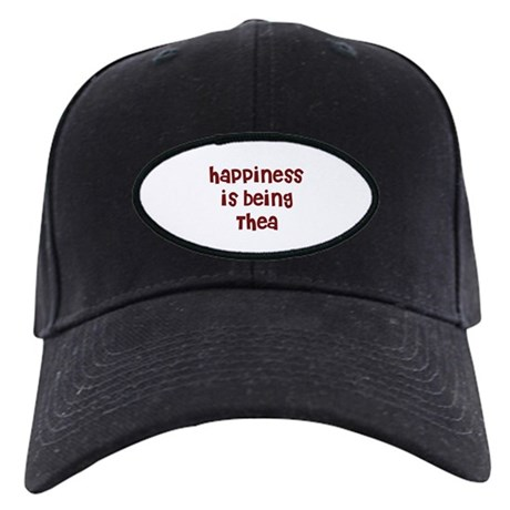 happiness is being Thea Black Cap